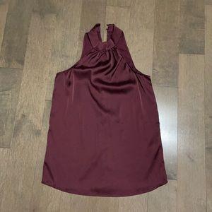 Maroon satin blouse